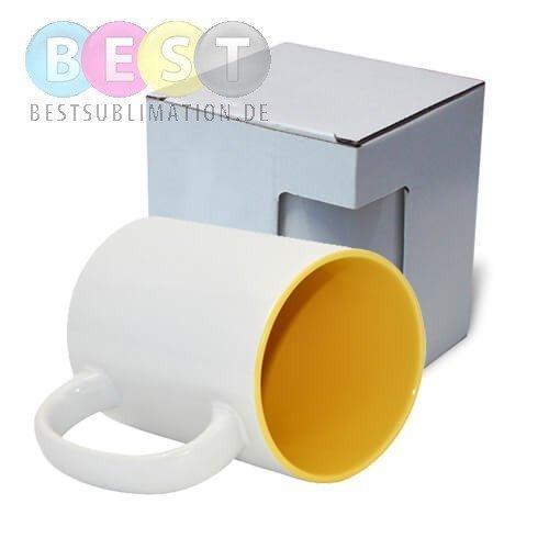 tasse 450 ml a gelbe innenseite mit box kar5 f r die. Black Bedroom Furniture Sets. Home Design Ideas