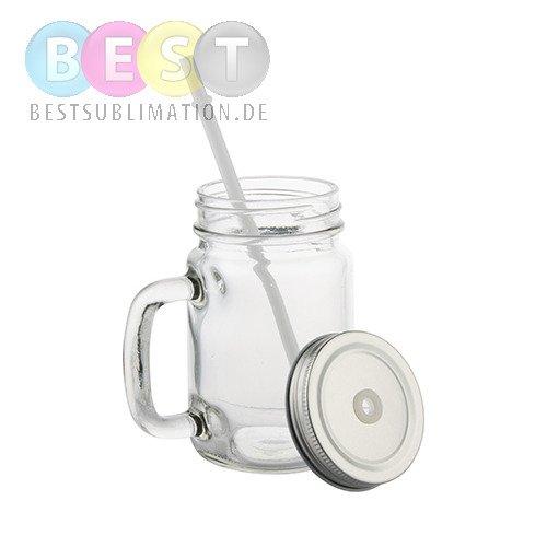 glas mit deckel mason jar mit strohhalm f r die. Black Bedroom Furniture Sets. Home Design Ideas