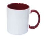 Tasse 330ml FUNNY, ECO, Bordeaux, für die Sublimation