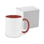 Tasse 330ml FUNNY, ECO, Bordeaux, mit Box, für die Sublimation