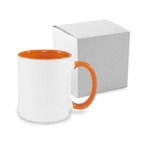 Tasse 330ml FUNNY, ECO, Orange, mit Box, für die Sublimation