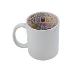 "Tasse 330ml, Mit Innenseite ""Happy Mother's Day"", für die Sublimation"