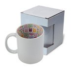 "Tasse 330ml, Mit Innenseite ""Happy Mother's Day"", mit Box, für die Sublimation"