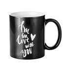 "Zaubertasse 330ml, Gravurtext ""I'm in Love with you"", Schwarz, für die Sublimation"