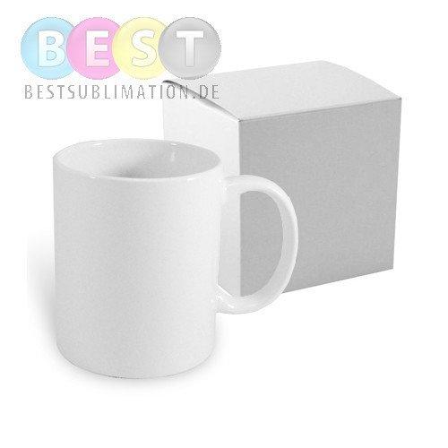 tasse wei porzellan mit einzelner box f r die sublimation. Black Bedroom Furniture Sets. Home Design Ideas