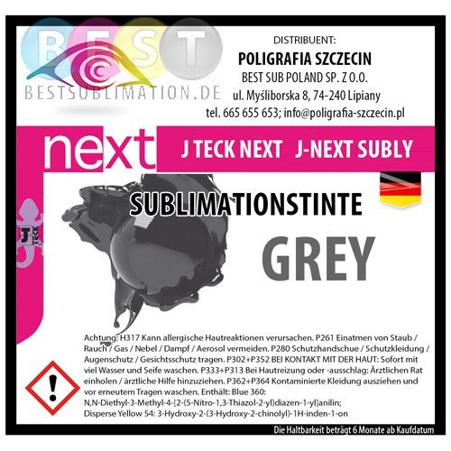 J-Next Sublimationstinte, GREY, J-Teck, 1000 ml